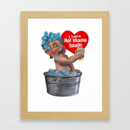 Hot Mama Soaps Baby Framed Art Print