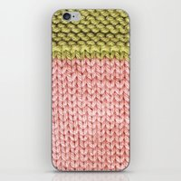 knit iPhone & iPod Skins featuring Knit by Melissa Jackson