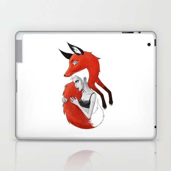 Girl and a Fox Laptop & iPad Skin