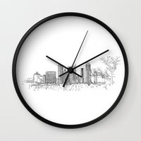 austin Wall Clocks featuring Austin by katarjana