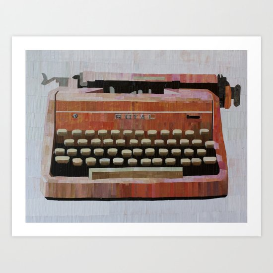 Pink Typewriter Art Print