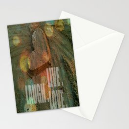 LIVE. LAUGH. LOVE. Stationery Cards