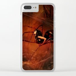 THE BLACK WIDOW Clear iPhone Case