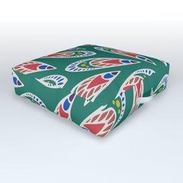 Green African Pattern Outdoor Floor Cushion