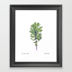 Red Russian Kale Framed Art Print