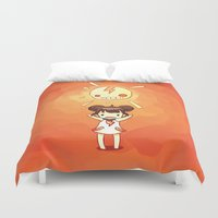 always sunny Duvet Covers featuring Sunny by Freeminds