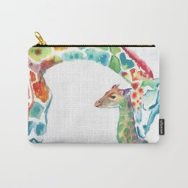 Mummy and Baby Giraffe College Dorm Decor Carry-All Pouch