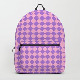 Cotton Candy Pink and Lavender Violet Diamonds Backpack