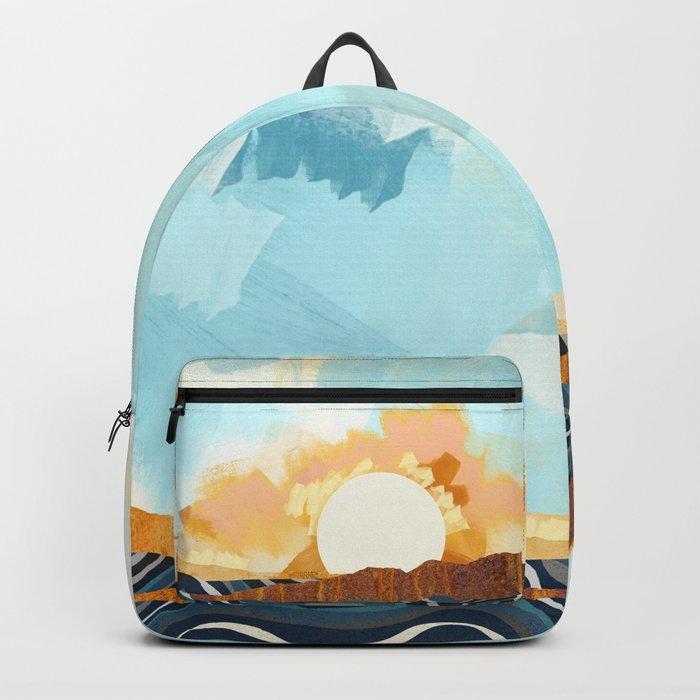 Summer Beach Sunset Backpack