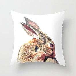 Rabbit Portrait Throw Pillow