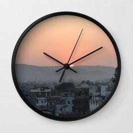 Sun Peaks Over The Horizon Wall Clock