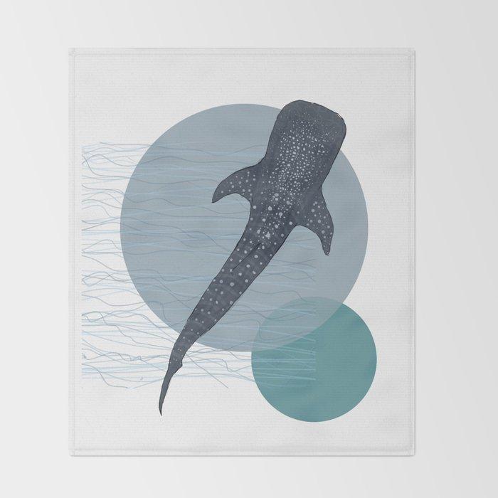 Whale Shark Throw Blanket