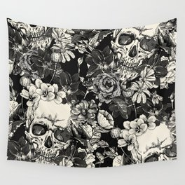 SKULLS HALLOWEEN Wall Tapestry