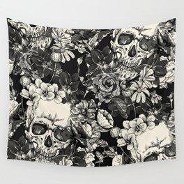 SKULLS HALLOWEEN SKULL Wall Tapestry