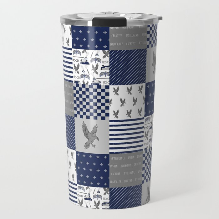 Raven House cheater quilt patchwork wizarding witches and wizards Travel Mug