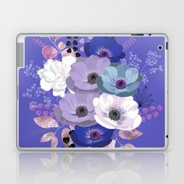 Anemones & Gardenia Blue bouquet Laptop & iPad Skin