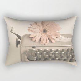 Soft Typewriter (Retro and Vintage Still Life Photography) Rectangular Pillow