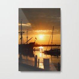 Boat Sunrise 1 Metal Print