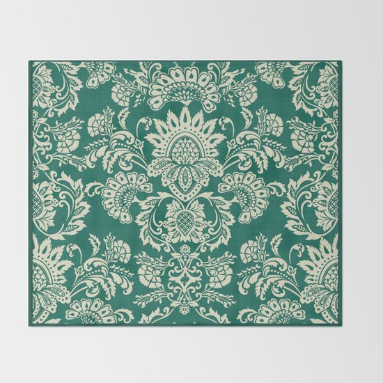 Damask vintage in green by chiccabesso