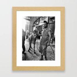 GET ALONG Framed Art Print