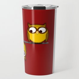 A whole new perspective for the owl Travel Mug