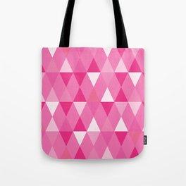 Harlequin Print Pinks Tote Bag