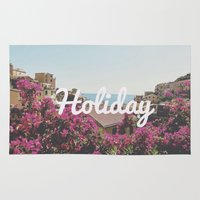 holiday Area & Throw Rugs featuring Holiday by Laure.B
