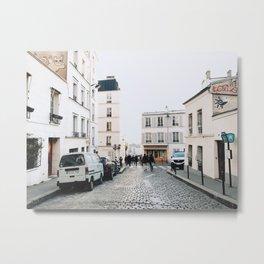 Cobbled Streets of Montmartre Metal Print