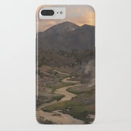 Hot Creek Sunset in the Sierras iPhone Case