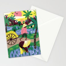 Ricefields Cambodia Stationery Cards