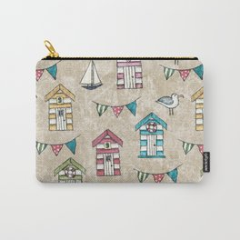 Beach Huts and Gulls II Carry-All Pouch