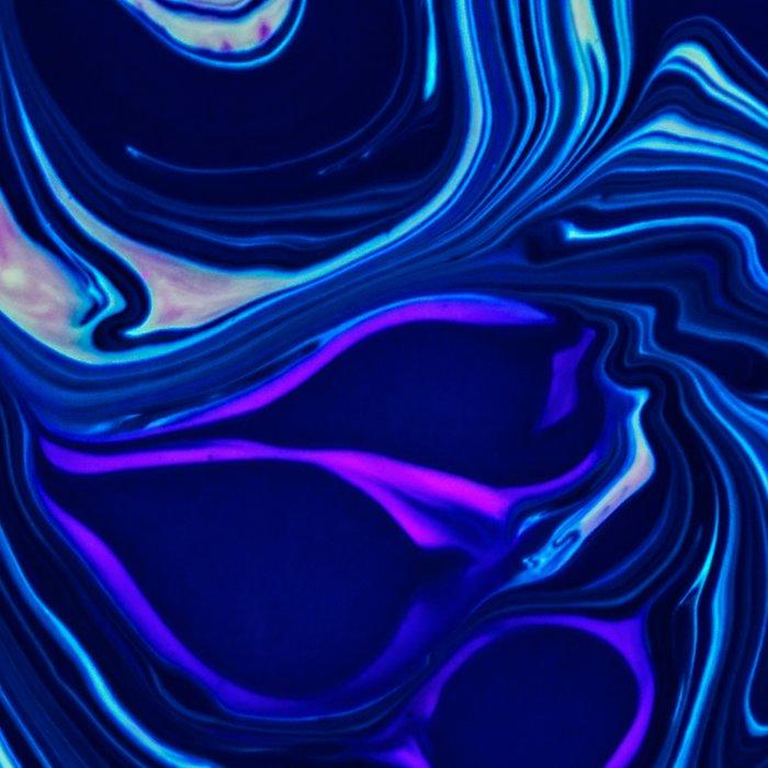 Deep blue sea marble pattern Leggings