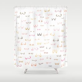 All Boobs Are Beautiful Shower Curtain