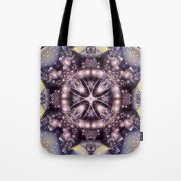 Alien Visitation in Lilac and Lavender Tote Bag
