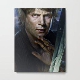 Sam with Sword Metal Print