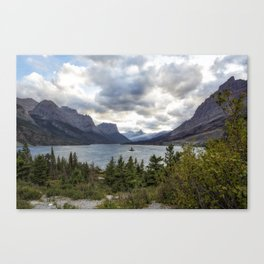 St Mary's Lake and Wild Goose Island Canvas Print