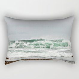 Explosive Green Surf of the St-Lawrence Rectangular Pillow
