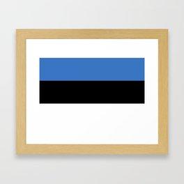 Flag of Estonia - Estonian,Eest,Baltic,Finnic,Sami, Skype,Arvo Part,Tallinn,Tartu, Narva,Snow, Cold Framed Art Print