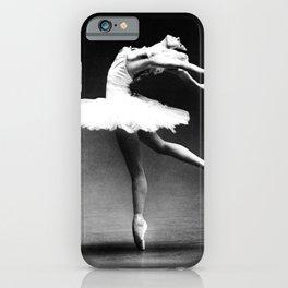 Swan Lake Ballet Magnificent Natalia Makarova black and white photograph  iPhone Case