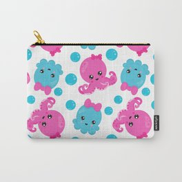 Octopus Pattern, Cute Octopus, Sea Animals Carry-All Pouch