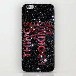 Galactic Positivity Wall Text iPhone Skin