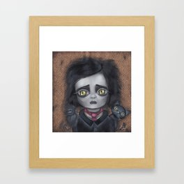 Young Poe Framed Art Print