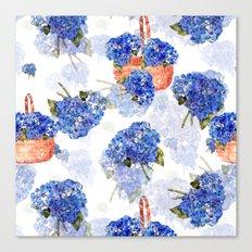 Cape Cod Hydrangeas and Baskets Canvas Print