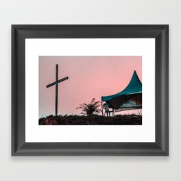 Here we are, now entertain us. Framed Art Print