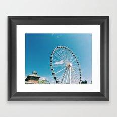 White Wheel Framed Art Print