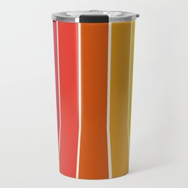 Rad - retro throwback 70s 1970s stripe beach 70's vibes minimal art Travel Mug