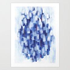 Rainy Crowd Art Print
