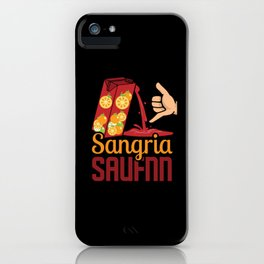 Sangria Wine Spain Wine-based drink alcohol iPhone Case