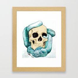 Snake & Skull Framed Art Print