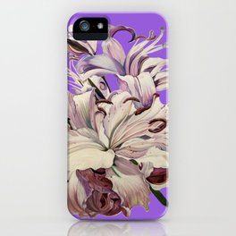 """Purple Lilies"" iPhone Case"